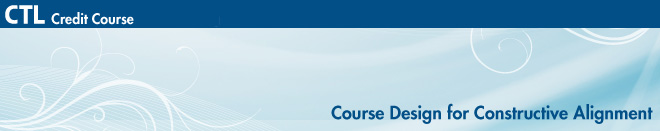 Course Design for Constructive Alignment